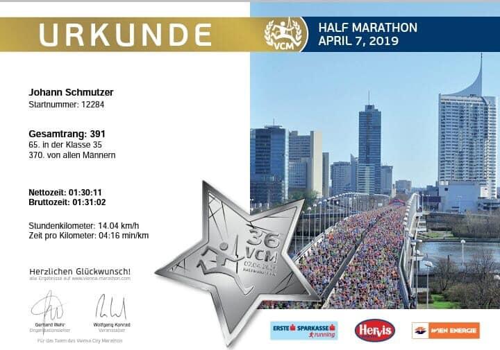 Vienna City Marathon 07.04.2019