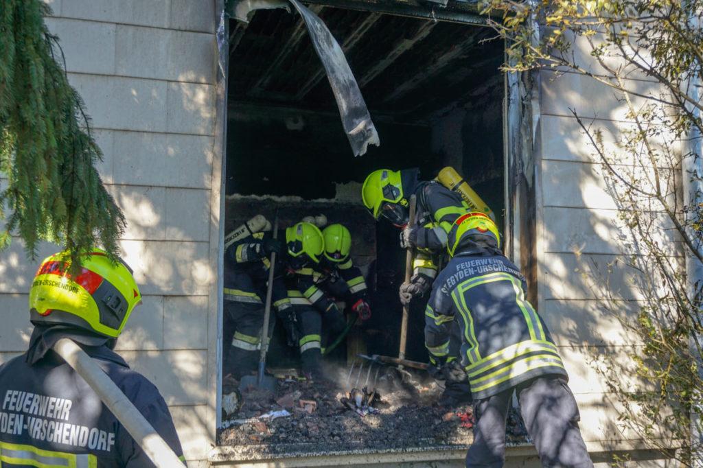 2021-10-17 Wohnhausbrand in Saubersdorf